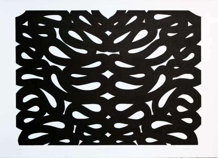 Snake-Abstract-2.1.-2015.-Linocut-on-Zerkall-Litho-Paper