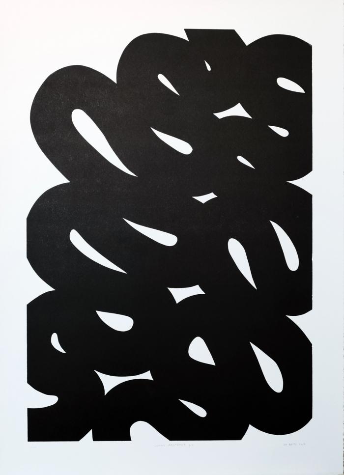 Snake-Abstract-3.1.-2015.-Linocut-on-Zerkall-Litho-Paper